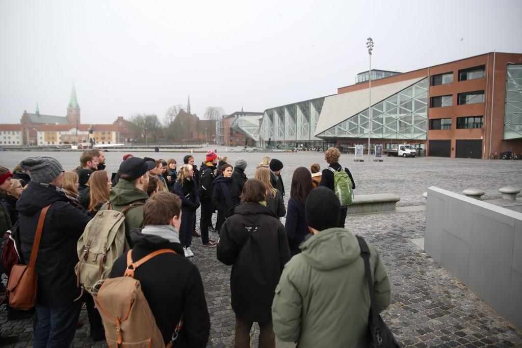 Vinterakademiets deltagere besøgte Kulturværftshallerne i Helsingør. Foto: Stefan Frank thor Straten